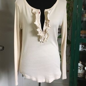 Tommy Hilfiger LARGE thermal ruffled Henley